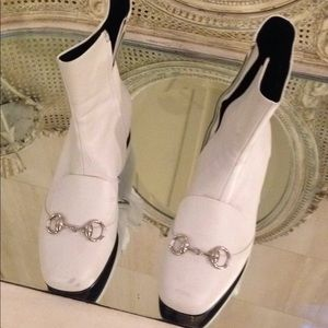Gucci white booties